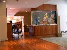 idées-aquarium-salon-design-moderne-intégré