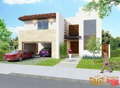 Fachadas Contemporáneas: Hermosa fachada de dos pisos de casa moderna