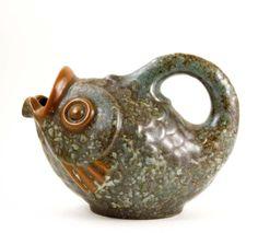 Michael Andersen & Son Fish-Shaped Jug Pottery Ideas, Vintage Ceramic, Household Items, Vintage Designs, Scandinavian, Clay, Plastic, Fish, Ceramics