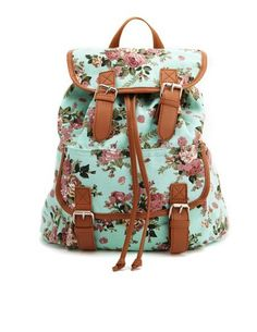 Floral Canvas Backpack: Charlotte Russe Future Diaper Bag!!!