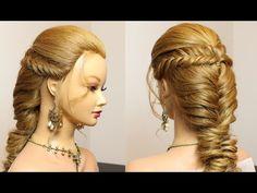 Cute hairstyle for long hair tutorial. Easy braids - YouTube