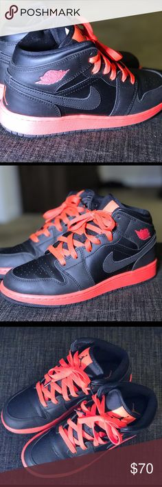 Nike Air Jordan 1's - 4.5 Youth/6.5 Women Lightly worn Jordan's! In Excellent Condition. Jordan Shoes Athletic Shoes