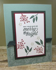 Tidings & trimmings merry & bright - succulent Stampin Up Christmas, Christmas In July, Holiday, Youre A Peach, 21 Cards, Christmas Blessings, Wink Of Stella, Paper Crafts, Diy Crafts