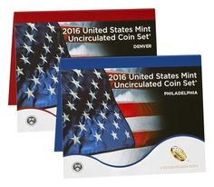 The 2016 U.S. Mint Uncirculated Coin Set includes two folders, each containing 13 coins with uncirculated finishes. One folder is from the U.S. Mint at Philadelphia and the other is from the U.S. Mint at Denver. The 2016 edition of the United States Mint Uncirculated Coin Set includes the following coins: The seventh...