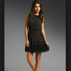 Juicy Couture - Black Floral Studded Dress
