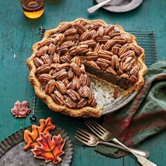 Salted Caramel-Chocolate Pecan Pie - Splurge-Worthy Thanksgiving Dessert Recipes - Southern Living