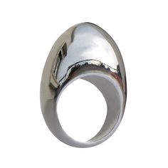 EGG Sterling Silver Custom Ring,  Large Minimal Ring, Contemporary  Italian Jewelry. $190.00, via Etsy.