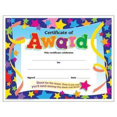 printable preschool diploma see more trend enterprises certificate of stars award