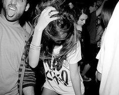 Dancing at the club