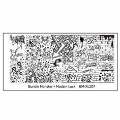 Blogger Collaboration Nail Art Polish Stamping Plates - BM-XL207, Madam Luck, graffiti