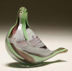 AVEM patchwork composition Murano glass bird figure