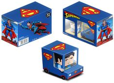 ::::: BoxZet Papertoy :::::superman free printable paper toy