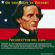 jefferson davis becomes president of the confederate states of america
