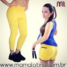 Amarelo foi a cor escolhida do dia para combinar com este dia lindo e quente aqui em Londrina  para alegrar seu treino *-* ! Comprando a Legging Saia Liga e a regata básica  o frete é grátis  #mamalatina #moda #modafit  #modafitness  #fitness #fit #treino #projeto #academia #yoga #legging #regata #blusa #amarelo #azul #girl #linda #mulheresquetreinam #compras #compraonline #venda #follow #boatardee #esporte #vida #saúde #modaparamenina #modaesportiva