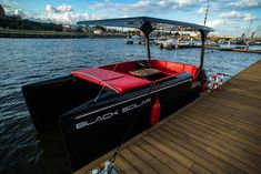 Black Solar boat Electric Boat, Open Water, Time Out, Solar, Black, Black People