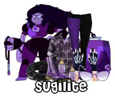 Sugilite - Steven Universe by invadergarb on Polyvore featuring Tomasz Donocik, Dara Ettinger, Too Fast and Italia Independent