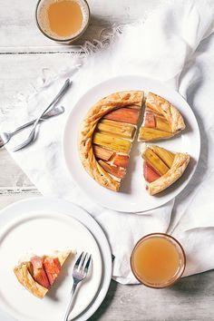 Tarte rhubarbe et crème pâtissière – Crokmou