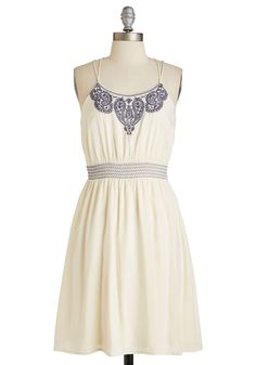 The Phrase that Paisley Dress. Youre as self-assured with your style as you are with your syntax, which is evident when you don this ivory sundress! #white #modcloth