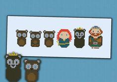Brave princess parody (bears version) - Cross stitch PDF pattern