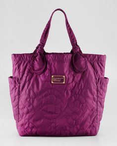 ShopStyle: MARC by Marc Jacobs Pretty Nylon Tote, Dark Magenta