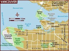 awesome Map of vancouver