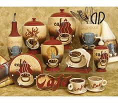 Kitchen Decor Themes Coffee 4 coffee cafe wall plaques pictures signs. kitchen or restaurant