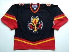 5dfc229377a Vintage CCM Calgary Flames NHL Hockey Jersey Men XL Horse Head Third  Alternate (eBay Link)