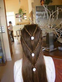 Galería de Peinados de Niña para Primera Comunión o Bodas.