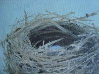 How to paint a bird nest