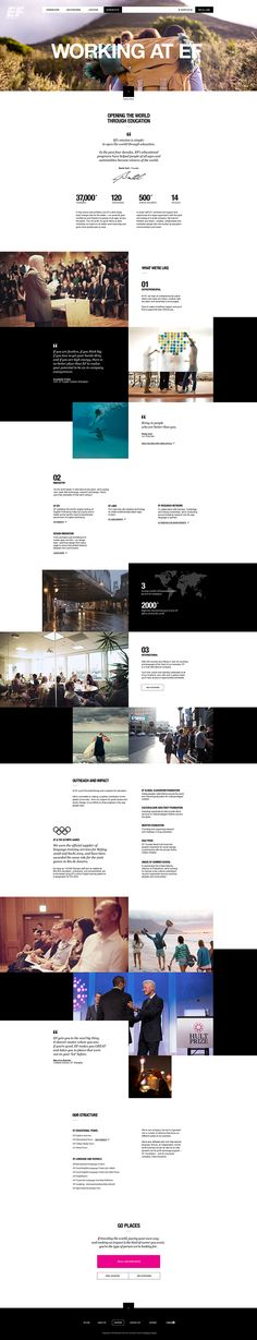 Web | EF Careers on Behance