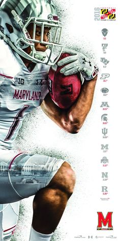 But use a basketball player instead 2016 Maryland Football Poster Sports Art, Kids Sports, Photoshop, Rugby, Organizar Instagram, Sports Graphic Design, Sport Design, App Design, Baseball Posters