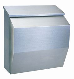 240ef22bf25e5 Rottner Modena Silver Stainless Steel Mail Box. Modern and Stylish designer  post box made from