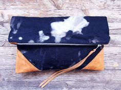 THE CONSTELLATION leather and canvas clutch by scoutandcatalogue, $68.00