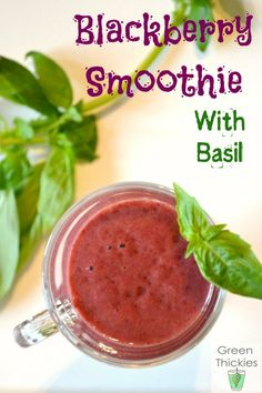 Blackberry Smoothie with Basil