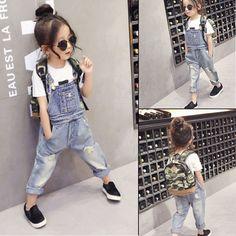 >> Click to Buy << 2016 spring girls clothing jeans pants fashion girl denim overalls kids denim overalls Jeans Overall For Girl Denim #Affiliate