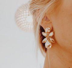 Dione Earrings / Golden Shadow - Caroline Svedbom