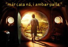 """""""Home is behind, the world ahead."""" **In phonetic Elvish so not the real meaning. If Elves had motivational posters this would be the one on my wall...**"""