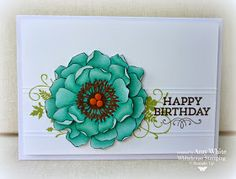 Stampin up Whitehouse Stamping Amy White Blended bloom Blendabilities