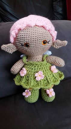 This is Flower Fairy Weebee, sure to make anyone smile with her curly hair do, pretty dress and adorable pointy ears!