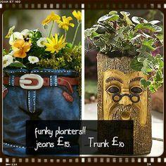 Cute little planters.