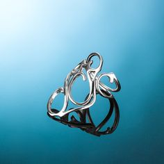 Silver ring AINE202A. Ajustable silver ring AINE202A.