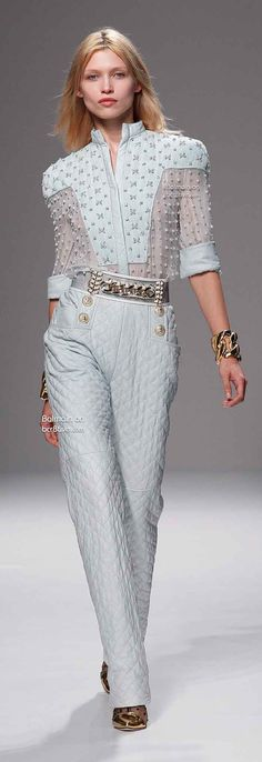 Balmain Spring 2014 Paris ❤♔Life, likes and style of Creole-Belle ♥
