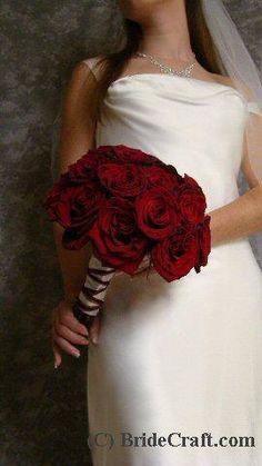 DIY Rose Wedding Bouquets