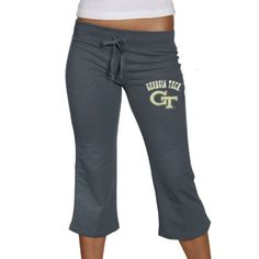 Georgia Tech Yellow Jackets Ladies Navy Blue Frost Slub Capri Sweatpants  #GaTech
