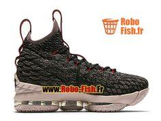 Officiel Chaussures de BasketBall Pas Cher Homme Nike LeBron 15/XV Noir/Blanc-Blanc 922811-003