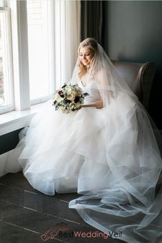 Netting Edge Cathedral Length Veil Wedding Double Layers Tulle