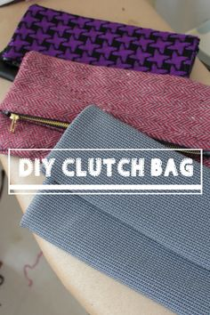 DIY: Folded Clutch Bag / MakeUp Bag - very simple but it needs a bit of sewing