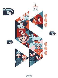 Super Mario art print $40