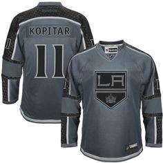 Mens Los Angeles Kings Anze Kopitar Reebok Charcoal Cross Check Premier  Fashion Jersey Hockey Shop 89ffb641a