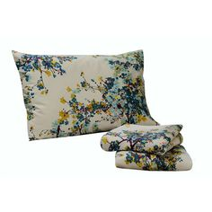 Tribeca Living Casablanca 300 Thread Count Floral Printed Deep Pocket Sheet Set
